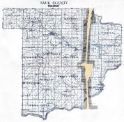 County Map, Sauk County 1921